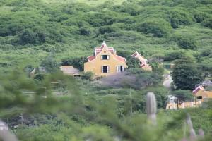 Landhuis auf Curacao, gesehen vom Christoffel Berg
