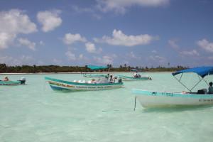 Boote beim Ausflug in Sian Kaan, Mexiko
