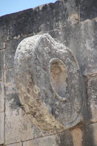 Steinring am Spielfeld in Chichen Itza