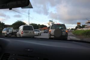 Verkehr auf Curacao mit einem Mietwagen