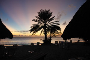 Curacao-Strand-abends