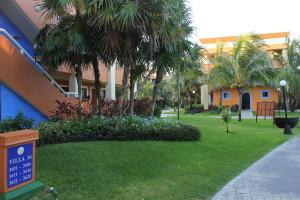 Garten eines Hotel in Mexiko