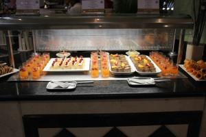 Nachtisch in einem Hotelrestaurant in mexiko