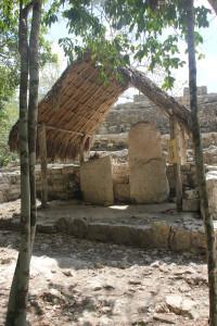Reliefs der Maya in Coba