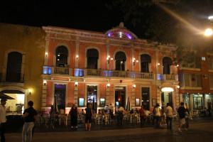 Merida, Mexico. Restaurant am Abend