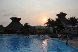 Hotel in Mexiko in der Abendsonne, Gran Bahia Principe Tulum