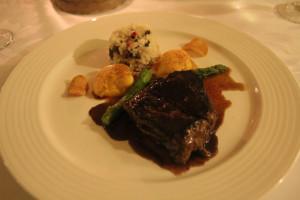 Hotelrestaurant in Mexiko, Beispiel eines Gerichts, Steak