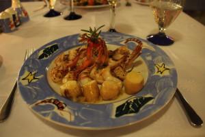 Essen in Mexiko. Foto eines Gerichts in einem Hotelrestaurant