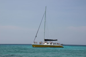 Mexiko Ausflug Boot von Puerto Aventuras