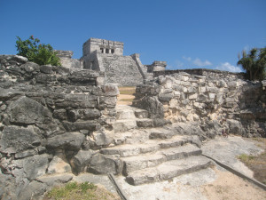 Tempelanlage in Tulum, Mexiko