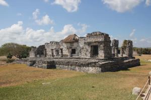 Bild eines Tempel in Tulum