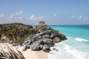 Tempel in Tulum, Mexiko
