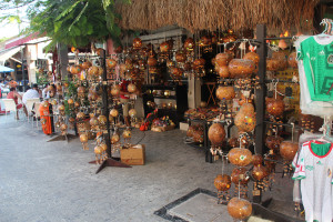 Souvenirs aus Kürbissen in Playa del Carmen, Mexiko