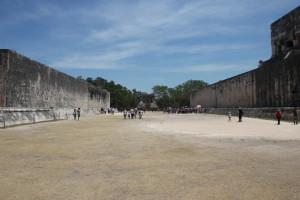 Antikes Spielfeld der Maya in Chichen Itza, Mexiko