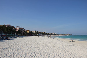 Strand in Yucatan an der Riviera Maya in Mexiko