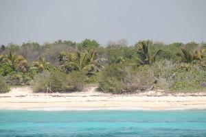 Menschenleerer, ruhiger Strand an der Riviera Maya