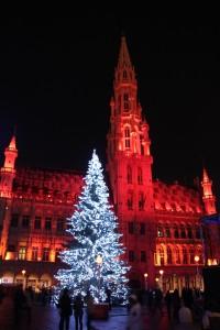 Brüssel Grand Place Weihnachten