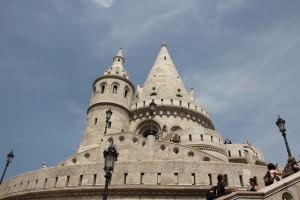 Budapest Fischerbastei, Detailansicht Turm
