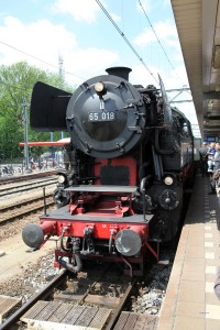 Dampflok in Dordrecht während Dordt in Stoom