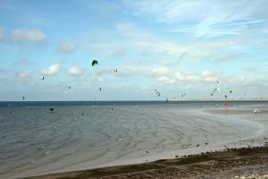 Kitesurfen in der Nähe von Renesse, Niederlande