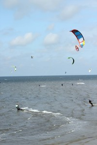 Kitesurfen in Renesse, Holland