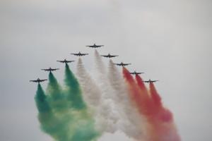 Frecche Tricolorie auf der Airshow der Luchtmachtdagen in den Niederlanden