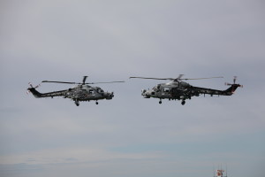Luchtmachtdagen in Holland. 2 Sea Lynxe bei der Airshow