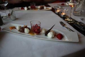 Dessert bei einem Restaurant Test