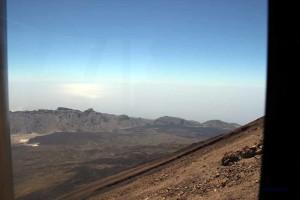 Seilbahn auf den Teide, Blick über den Krater