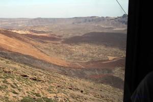 Blick auf das Teide Plateau auf Teneriffa von der Seilbahn aus