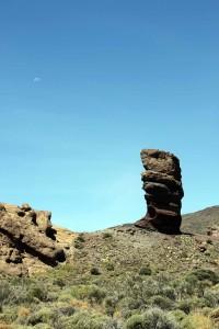 Teneriffa, Teide Plateau. Roques de García mit Roque Cinchado