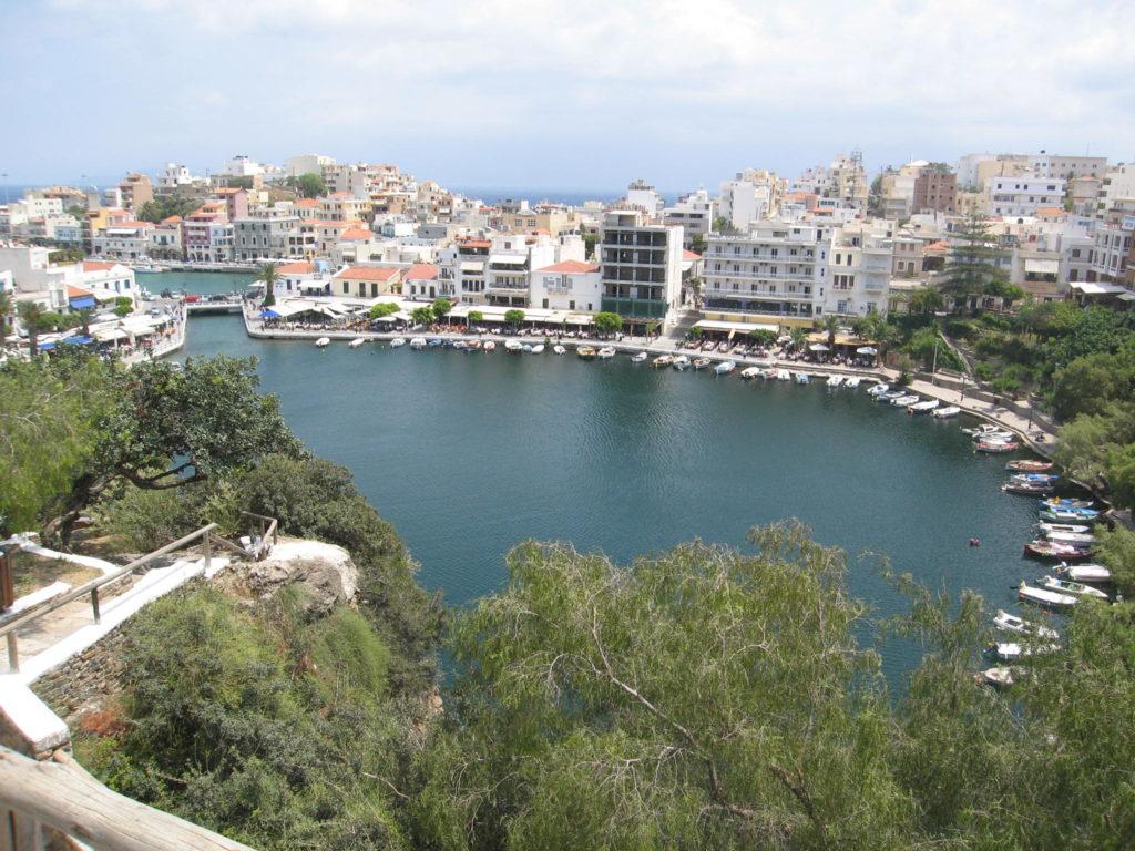Agios Nikolaos auf Kreta von oben