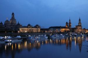 Dresden, Semperoper und Zwinger nachts