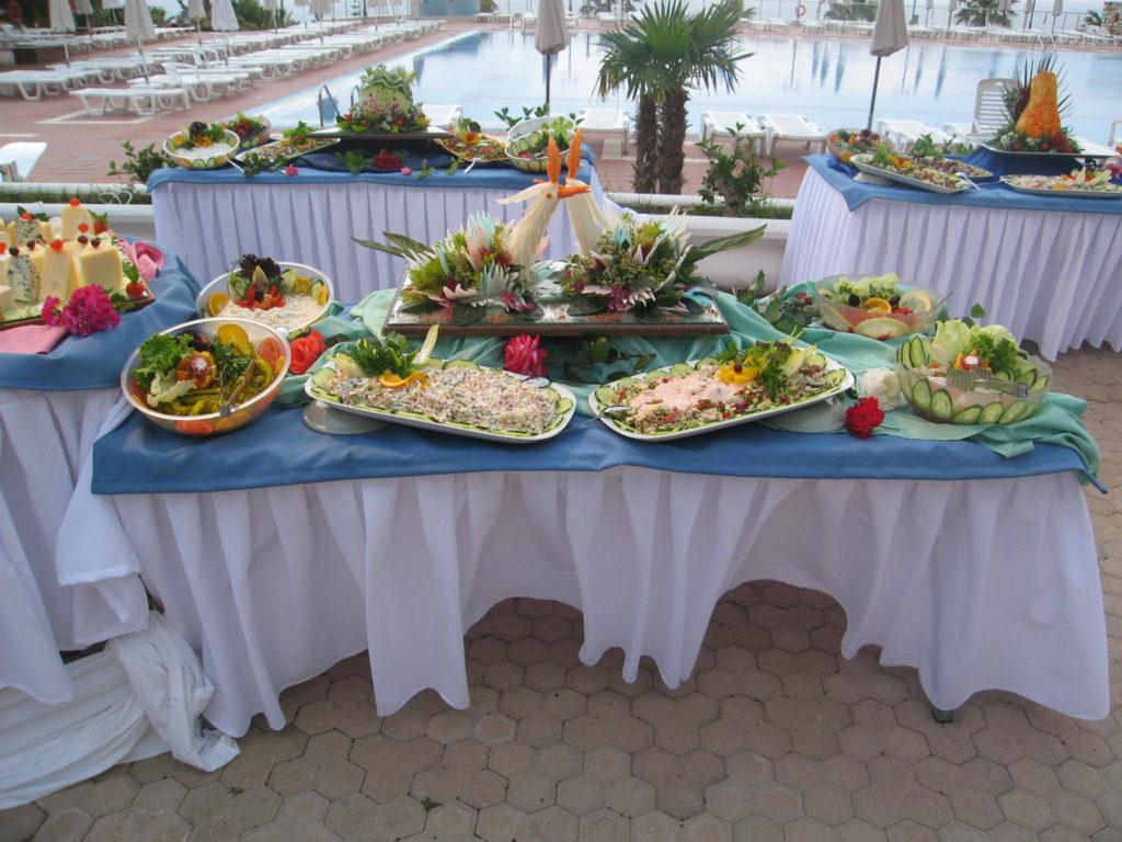 Feier in einem Hotel Restaurant - Essen
