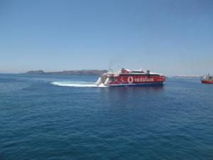 Fähre von Kreta nach Santorin