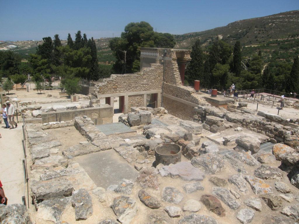 Augrabungen von Knossos auf Kreta