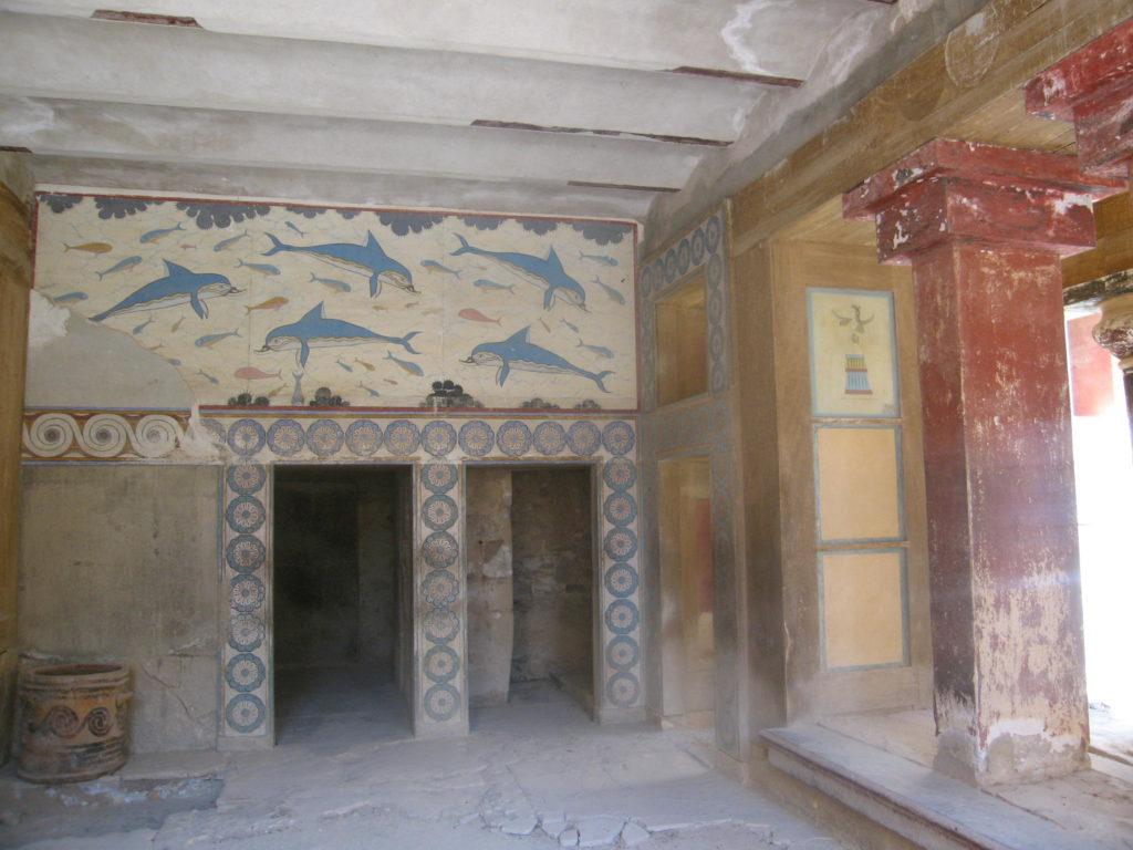 Teilweise Renovierung des Palastes von Knossos