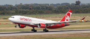 Flug - AirBerlin A330 beim Start