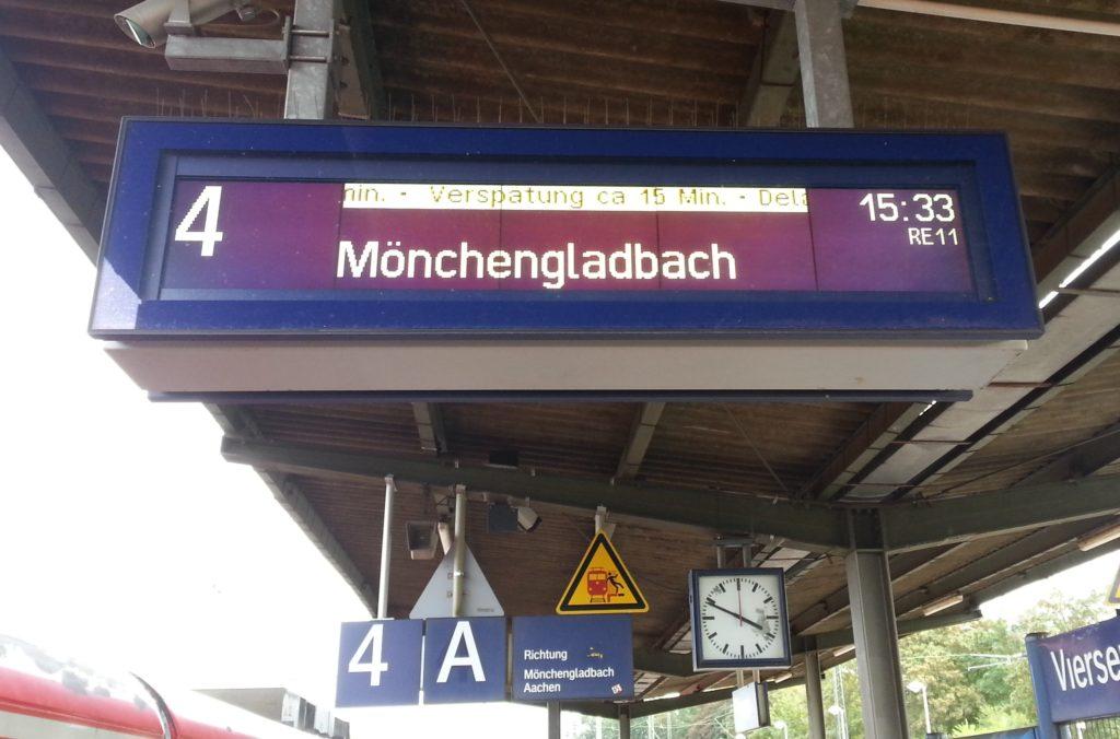 Verspätungsmeldung Bahn