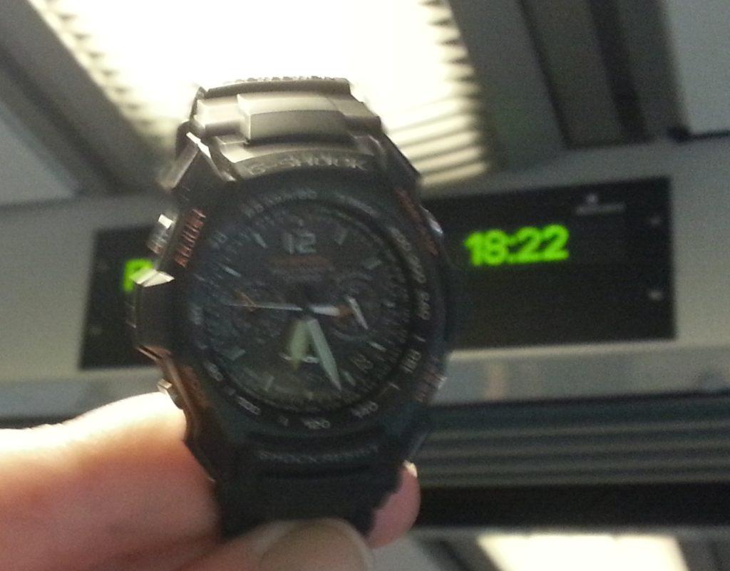 Bahn Verspätung Uhrzeit