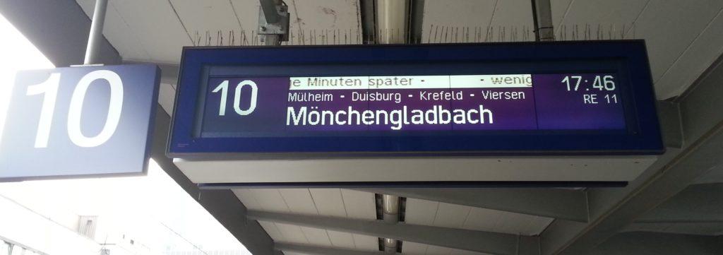 Gleisänderung Verspätung Bahn