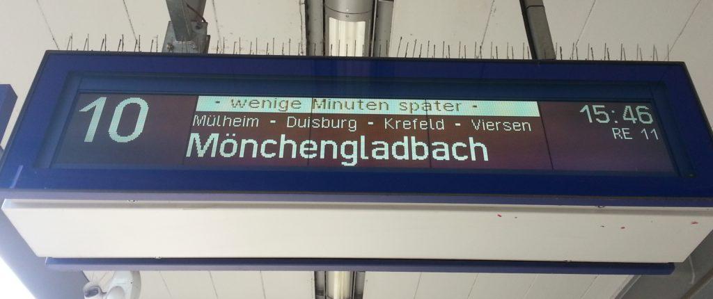Gleiswechsel-Verspätung-Bahn