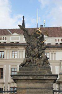 Denkmal auf dem Hradschin in Prag